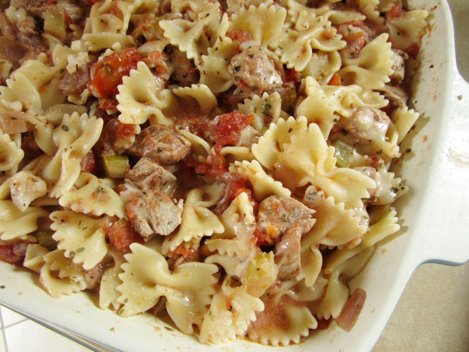 Chicken pasta bake casserole 2