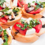 Homemade caprese bruschetta recipe; perfect way to use up the tomatoes and basil from your garden!