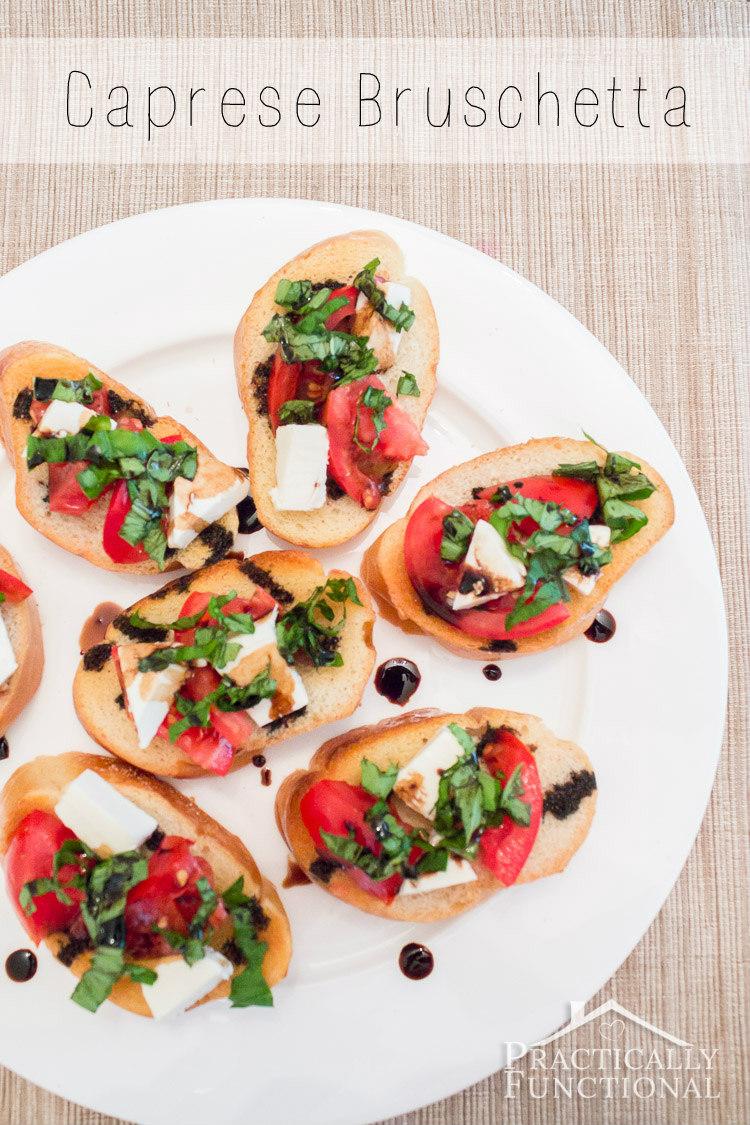 Homemade caprese bruschetta recipe; perfect way to use up the tomatoes ...