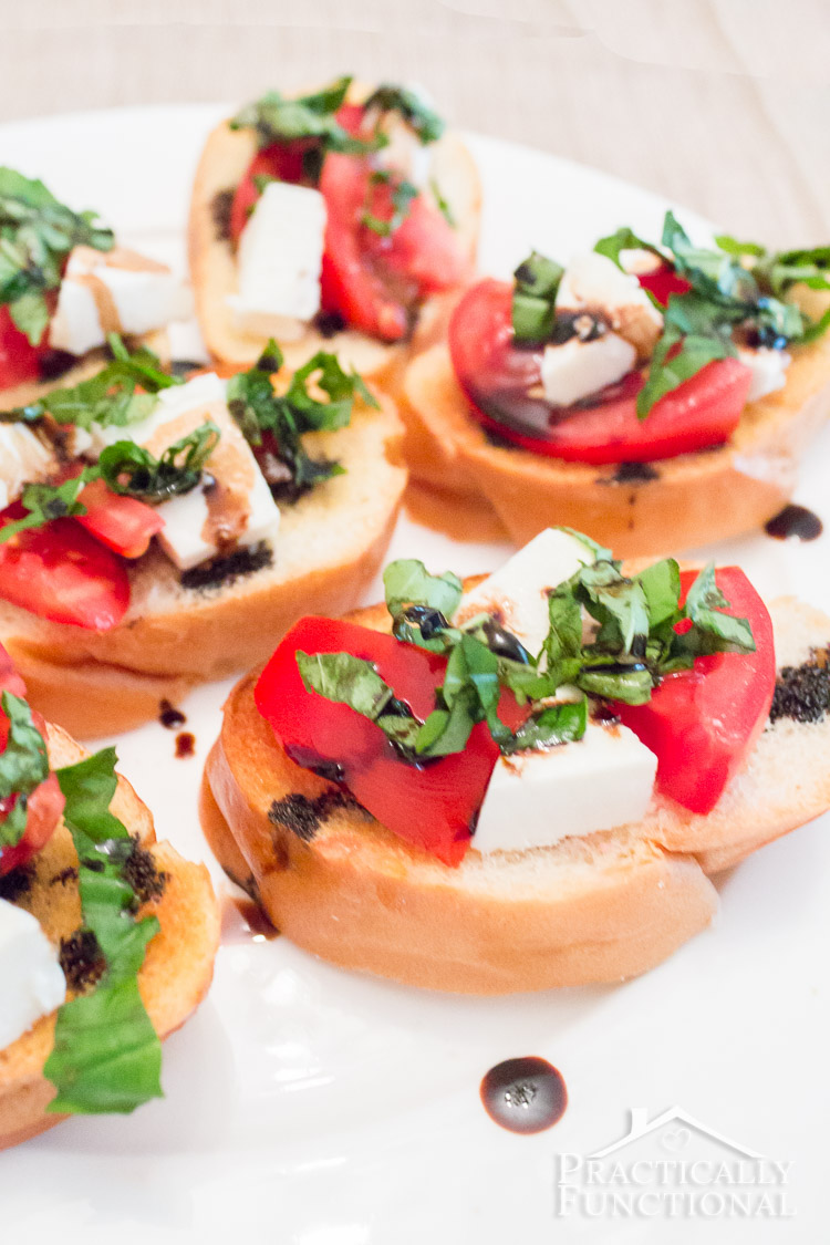 Homemade caprese bruschetta recipe; perfect way to use up the tomatoes ...