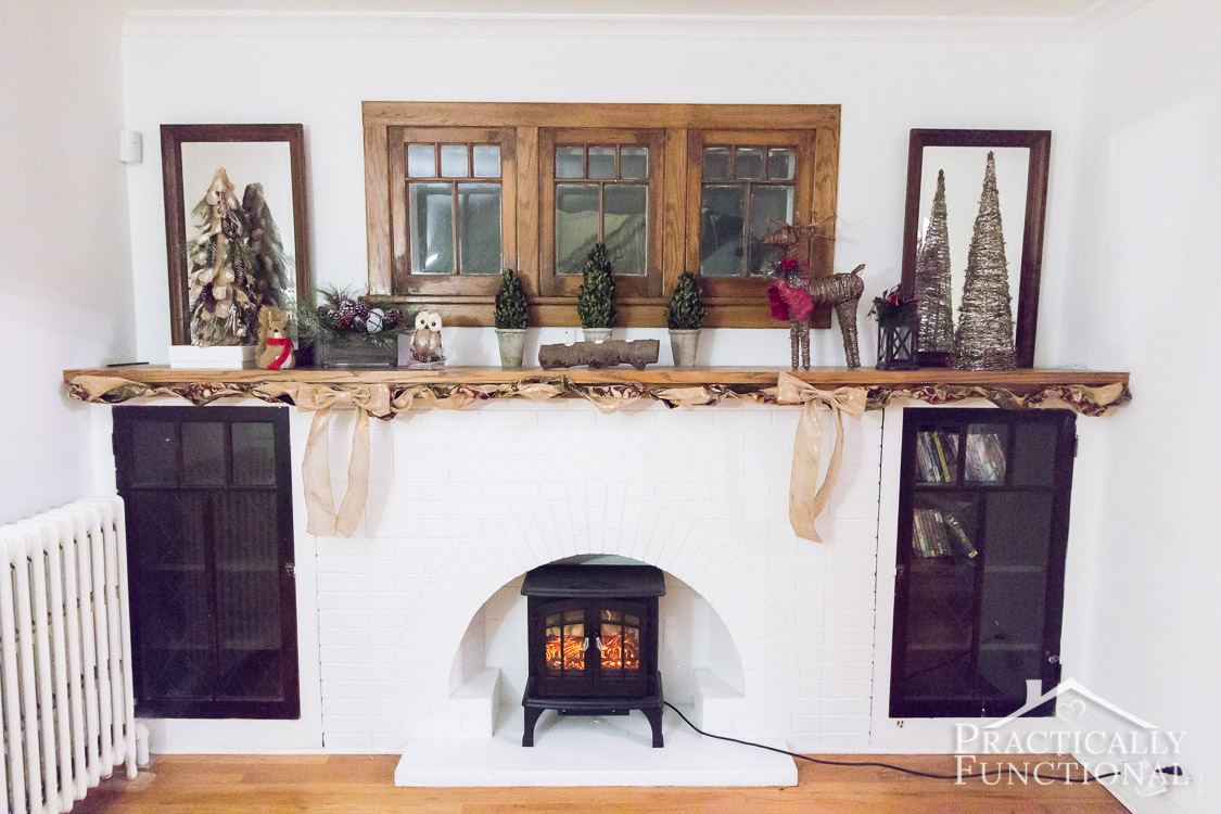Christmas Mantel Decor – Simple Mantel Decor