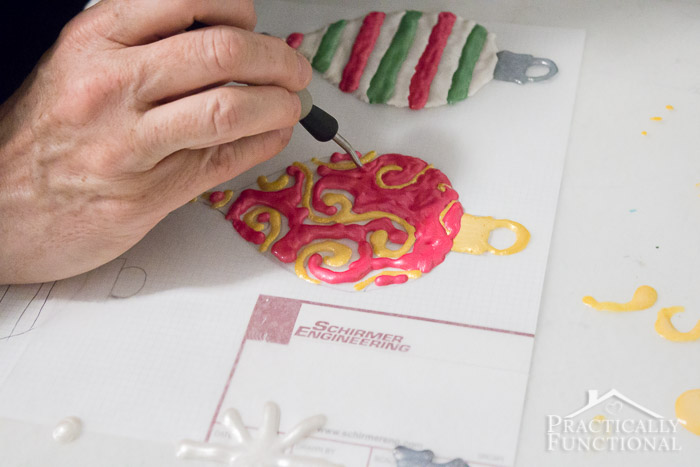 Make your own window clings using Mod Podge and paint!