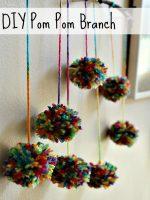 DIY Pom Pom Branch