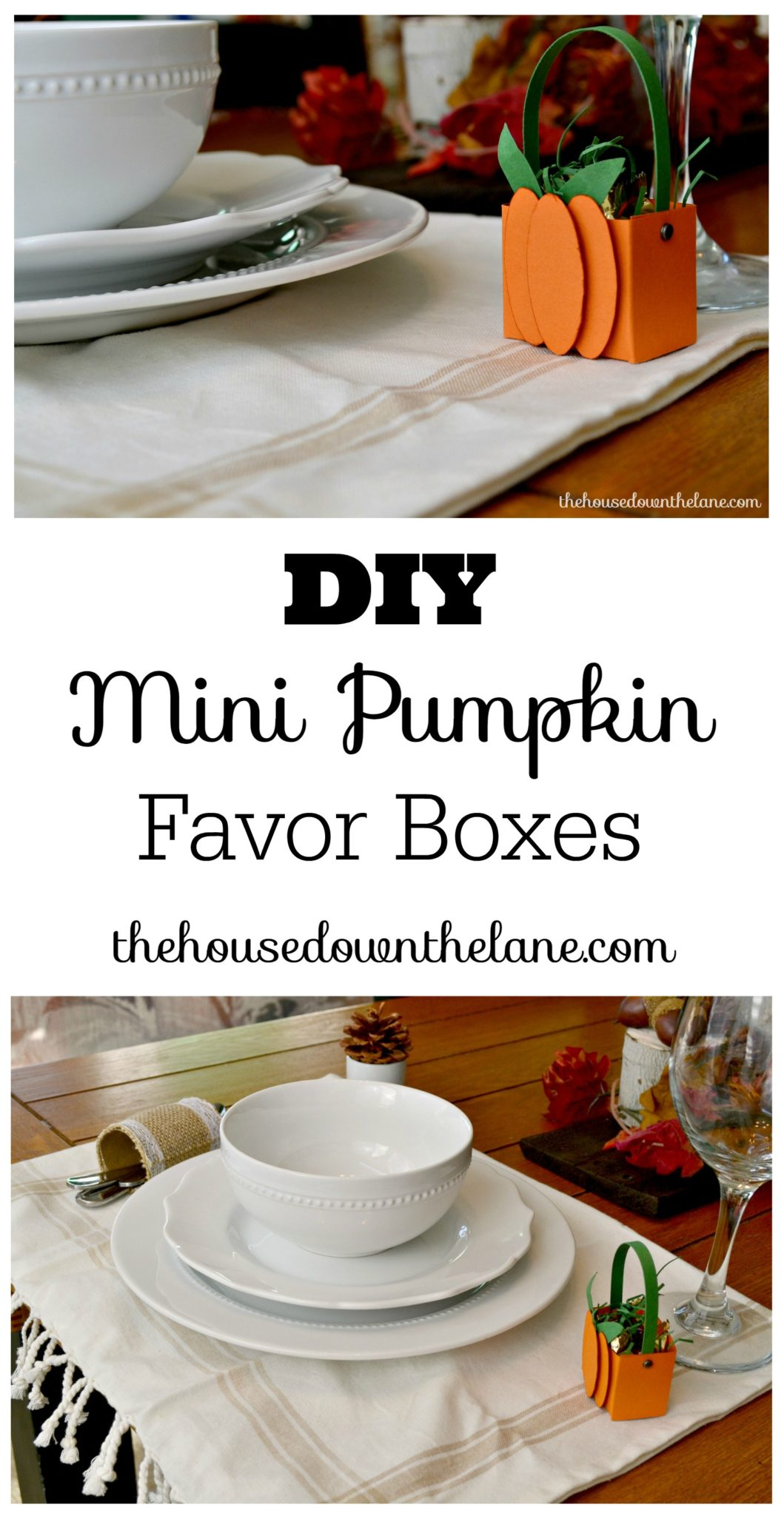 Create these DIY Mini Pumpkin Favor Boxes for the perfect little gift box or table decoration this Thanksgiving.