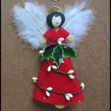 A Woodland Angel Ornament is an easy craft for the upcoming holidays. Use this step by step tutorial and make your own.