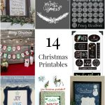 14 Christmas printables, perfect if you're looking for some great last minute Christmas ideas!