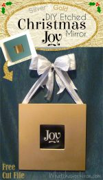 Silver and Gold DIY Etched Mirror: Christmas JOY