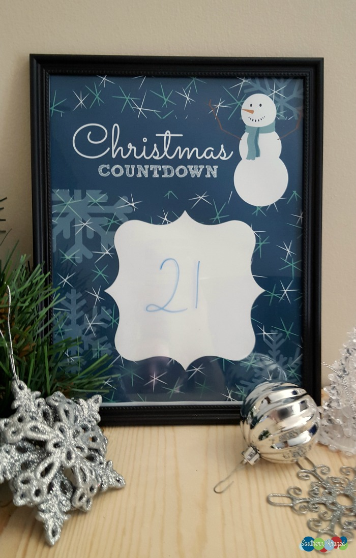 Countdown To Christmas Printable - and 13 other Christmas printables!