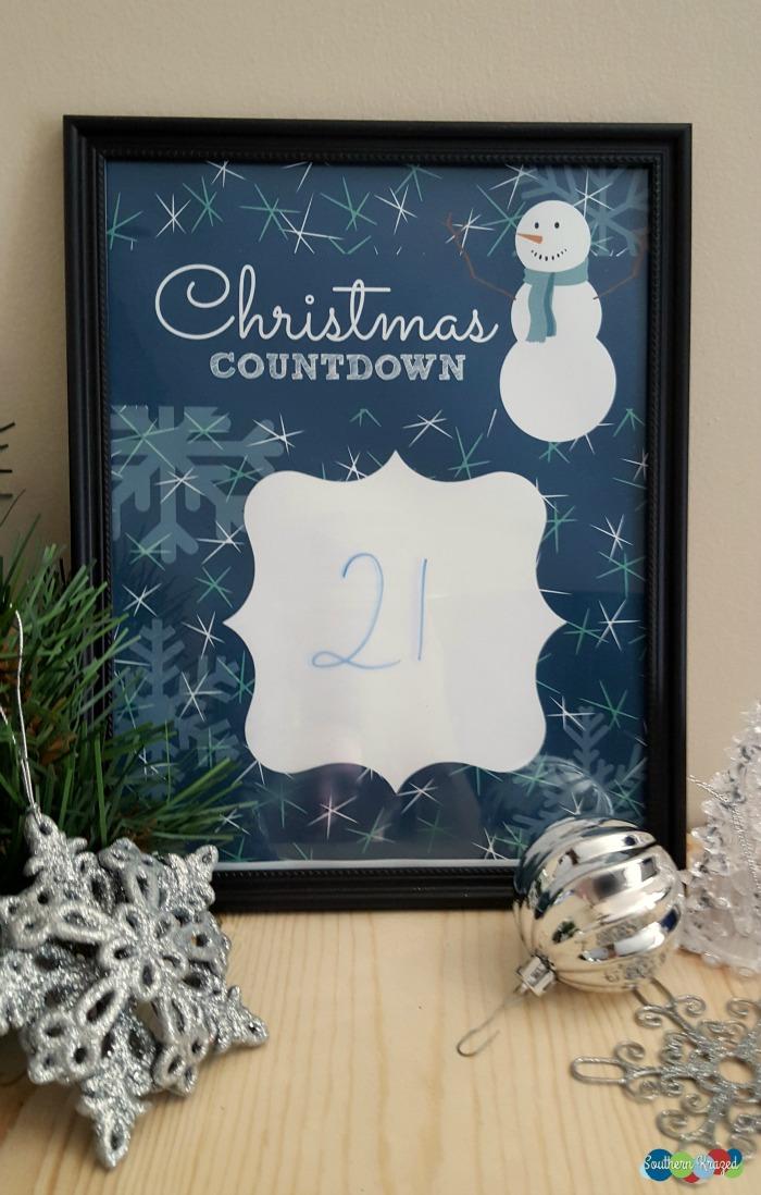 Countdown To Christmas Printable - and 13 other Christmas printables!