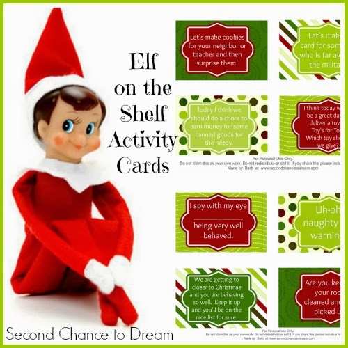 Elf On The Shelf Activity Card Printables - and 13 other Christmas printables!
