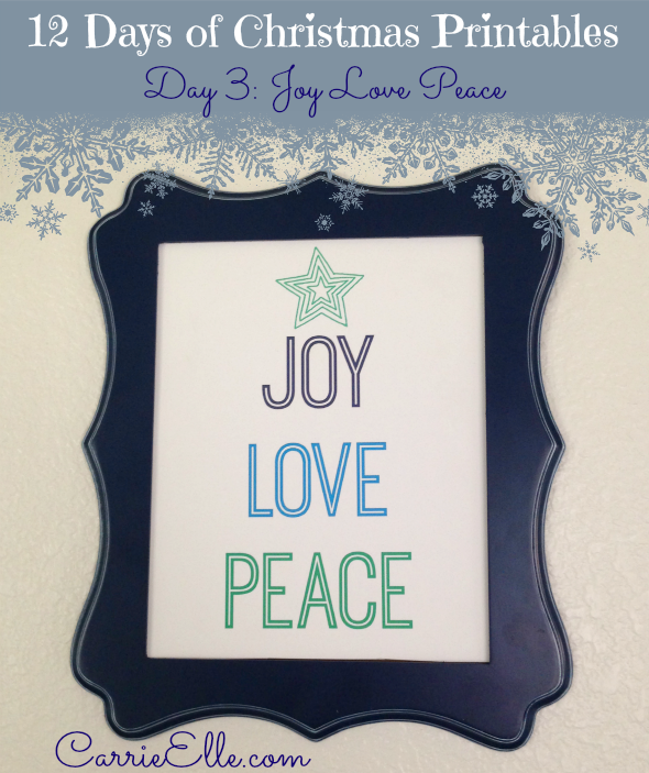 Joy Love Peace Printable - and 13 other Christmas printables!