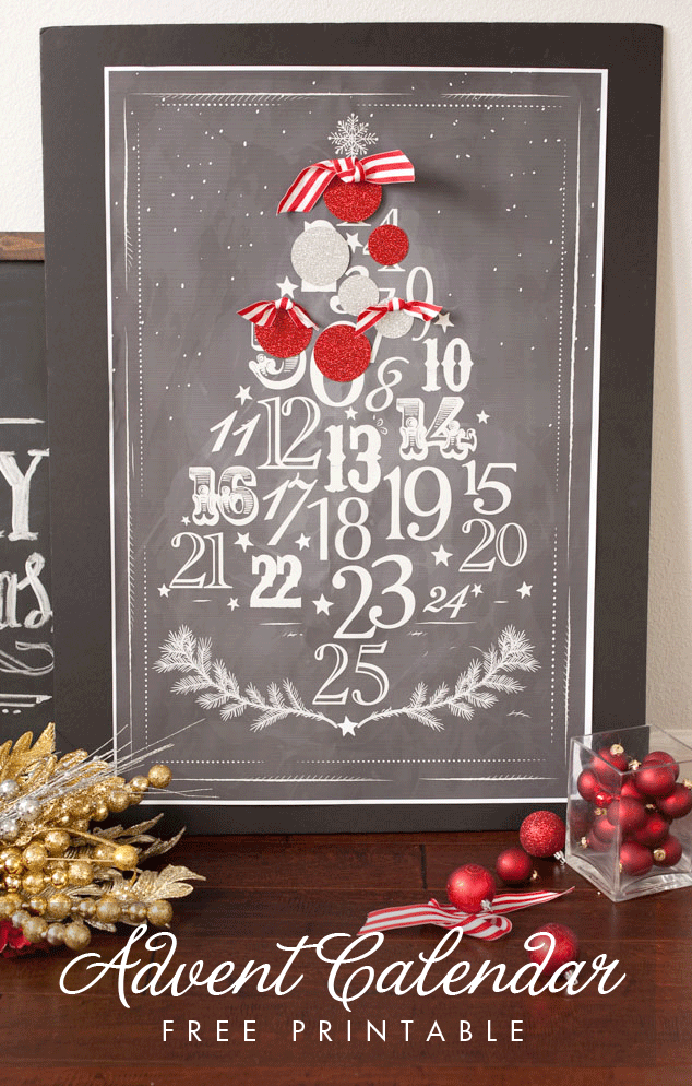 Free Printable Advent Christmas Calendar - and 13 other great Christmas projects!