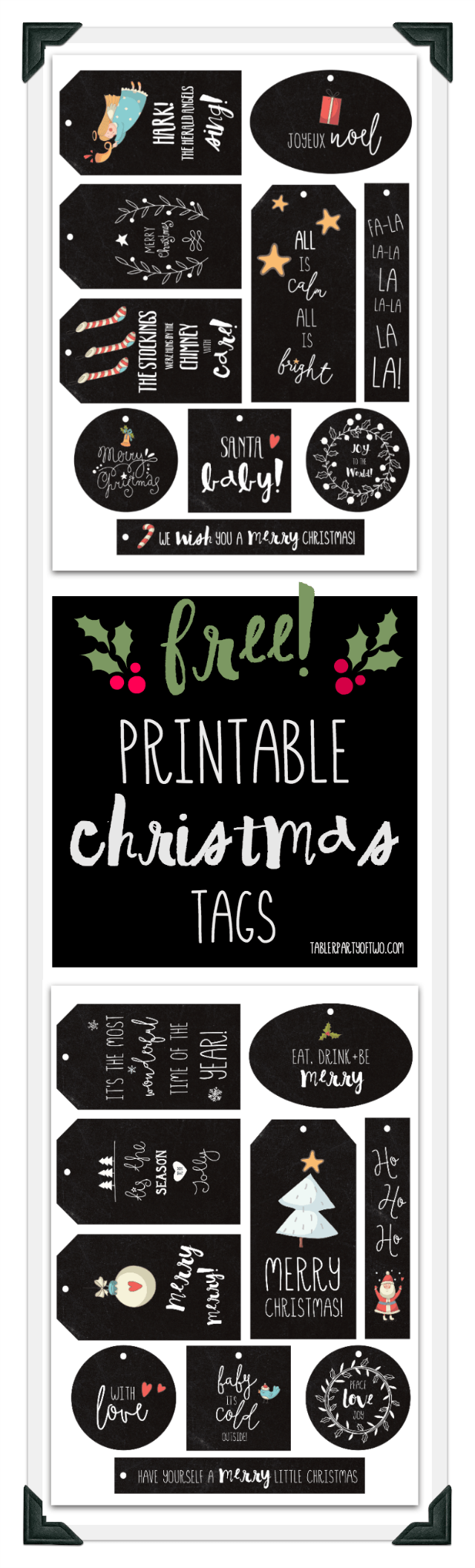 Free Printable Christmas Tags - and 13 other Christmas printables!