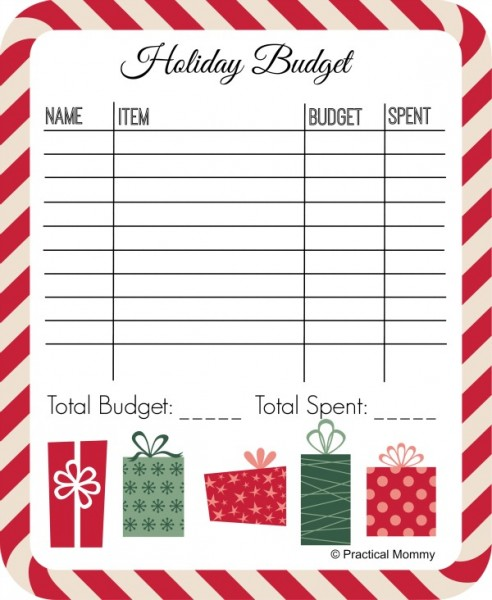Holiday Budget Printable - and 13 other Christmas printables!