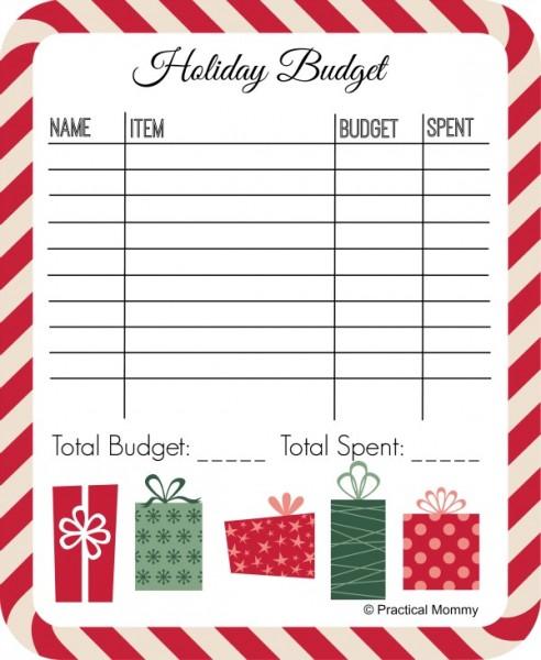 Holiday Budget Printable - and 13 other Christmas printables!