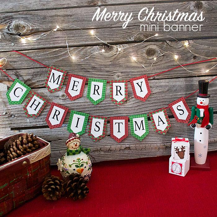 Merry Christmas Mini Banner Printable - and 13 other Christmas printables!