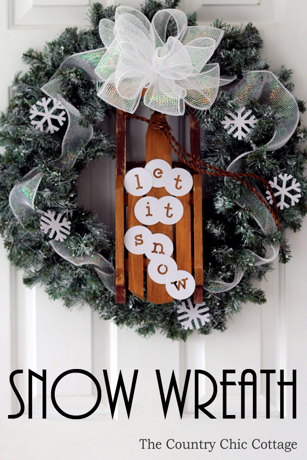Let It Snow Wreath - and 10 other gorgeous DIY holiday wreaths!
