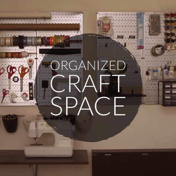 Organized craft space - and 9 other great ways to organize and declutter your home!