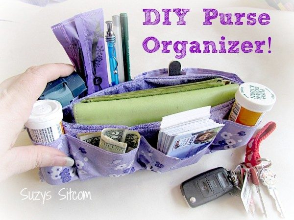 DIY purse organizer - and 20 other great ways to get organized for the new year!