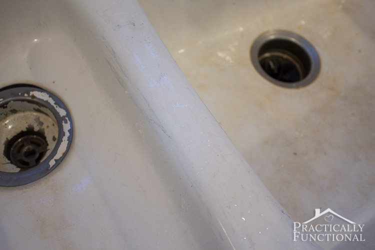 Marvelous How To Clean A Porcelain Sink   Even Black Scuff And Scratch Marks