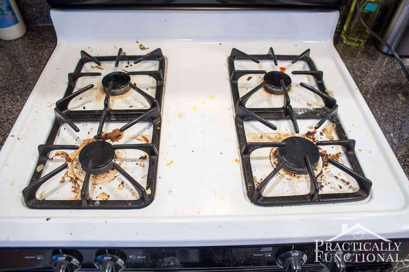 How To Really Clean A Stove Top (Even All The Baked On Gunk!)