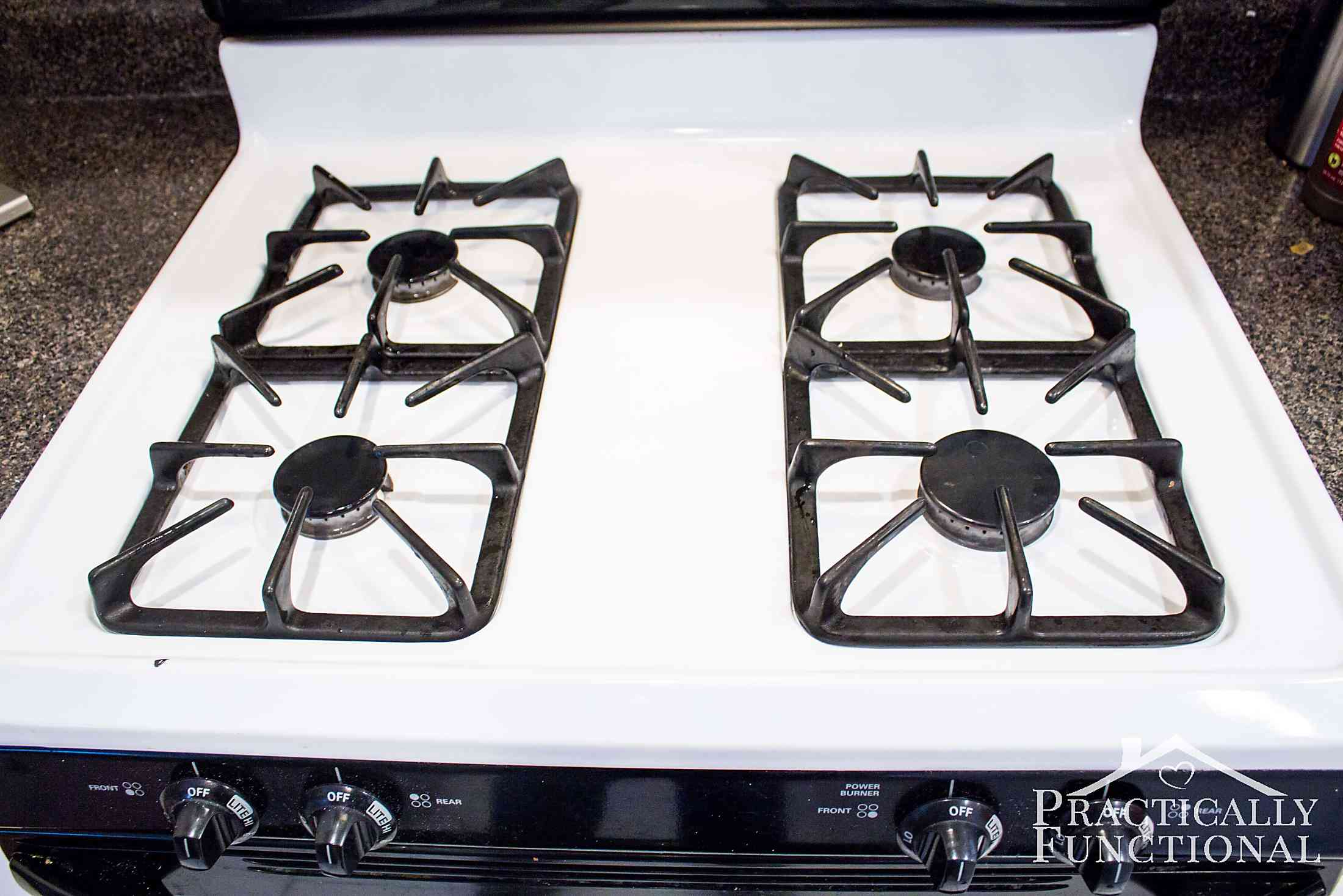 How to really clean a stove top even all the baked on gunk How to clean top of oven