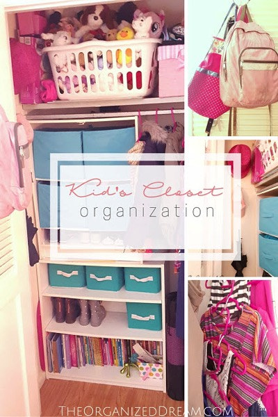 Kid's closet organization - and 9 other great ways to organize and declutter your home!