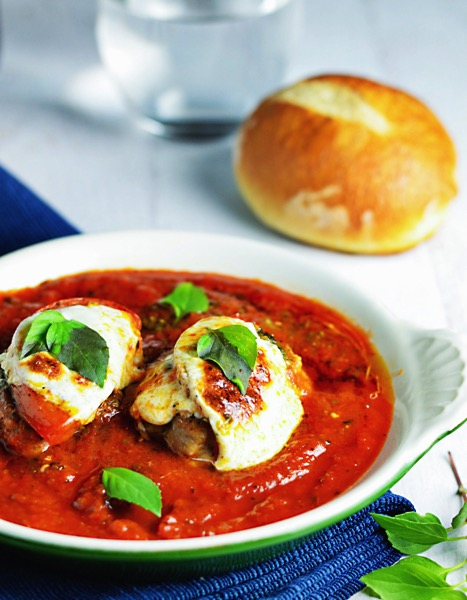 Pork Tenderloin With Marinara Mozzarella & Basil - and 26 other delicious comfort food recipes!