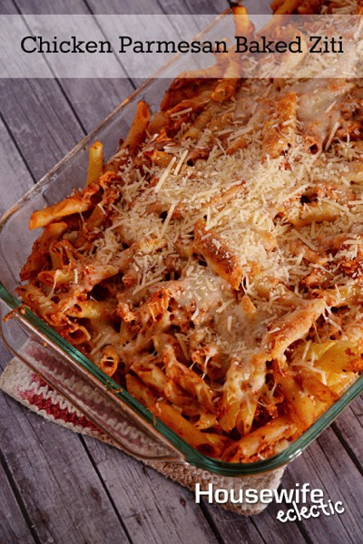 Chicken Parmesan Baked Ziti - and 26 other delicious comfort food recipes!