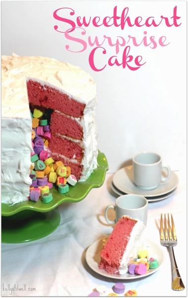 Sweetheart Surprise Cake - and 24 other delicious Valentine's Day treats!
