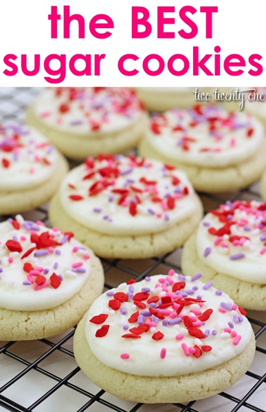 Valentine's Day Sugar Cookies - and 24 other delicious Valentine's Day treats!