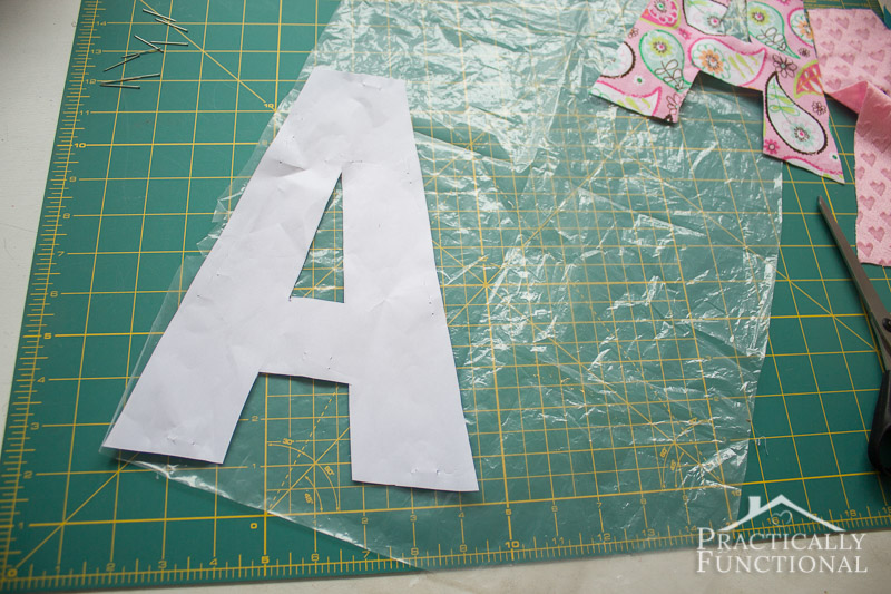 DIY Crinkle Monogram Tag Toy 3