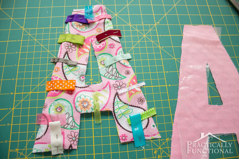 DIY Crinkle Monogram Tag Toy 5