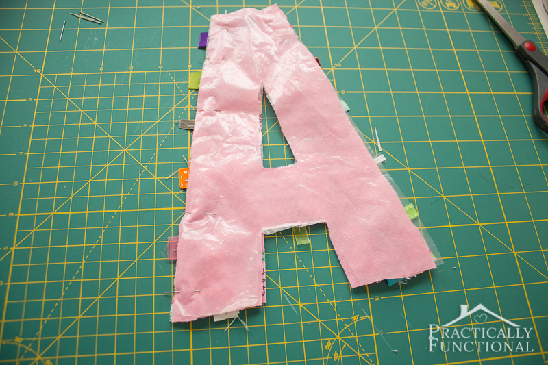 DIY Crinkle Monogram Tag Toy 6