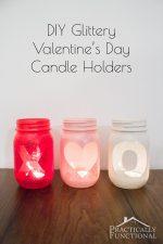 DIY Glittery Valentine's Day Votive Candle Holders