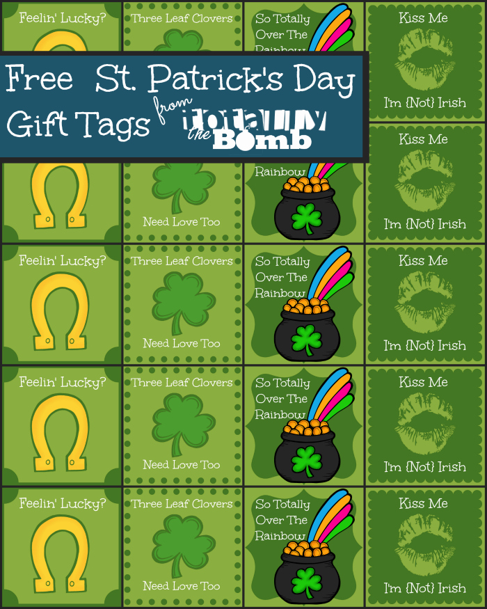 Free St Patricks Day Gift Tags - and 16 other fun St. Patrick's Day projects!