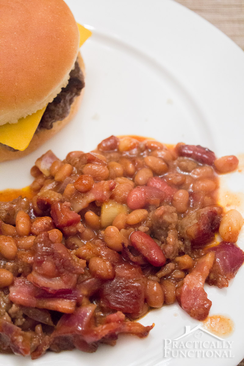 Homemade Baked Beans Recipe - a quick and easy weeknight dinner!