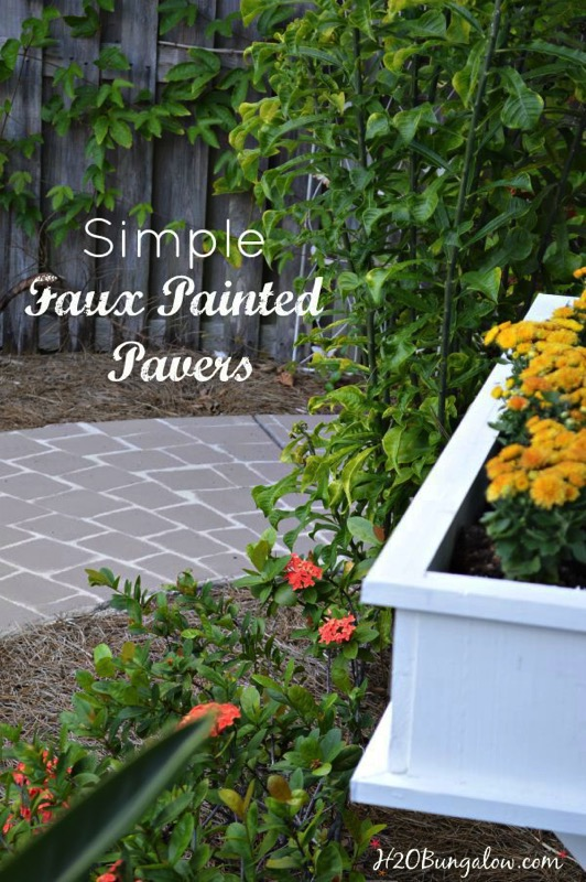 Simple faux painted pavers - and 11 other festive DIY spring projects!