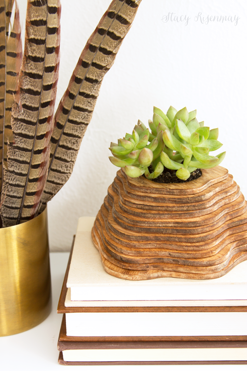 DIY wood topography inspired planter - and 11 other festive DIY spring projects!
