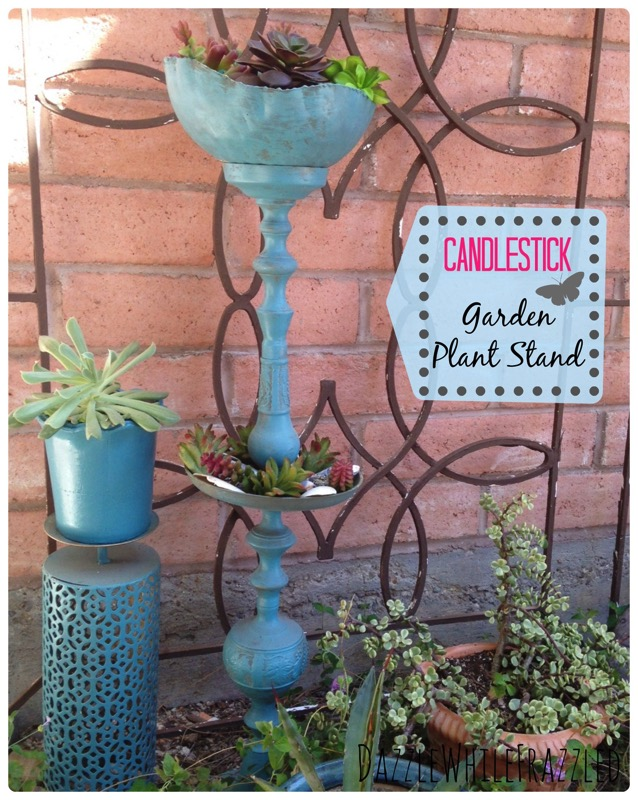Candlestick Plant Stand - and ten other amazing DIY outdoor projects to try this spring!