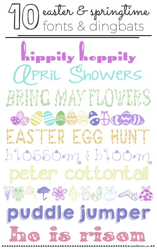 10 Easter and springtime fonts - and 14 other awesome Easter crafts!