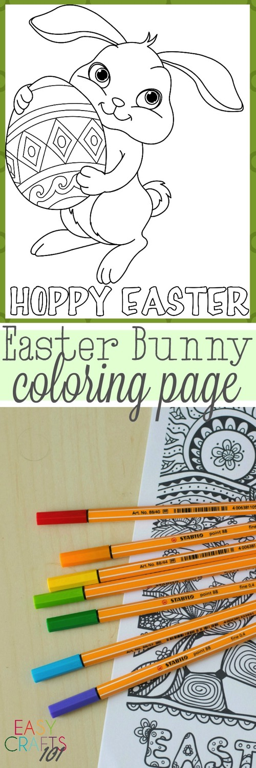 Easter Bunny Coloring Pages - and 14 other awesome Easter crafts!