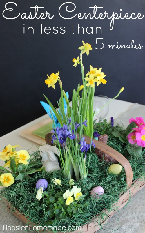5 minute Easter centerpiece - and 14 other awesome Easter crafts!
