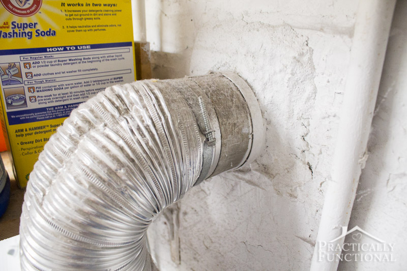 How to clean a dryer vent 4
