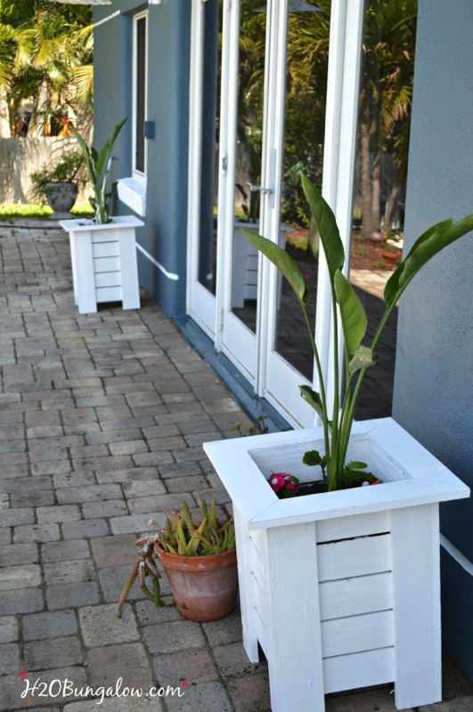 Key West Themed Backyard : Key west style wood planter boxes  and ten other amazing DIY outdoor