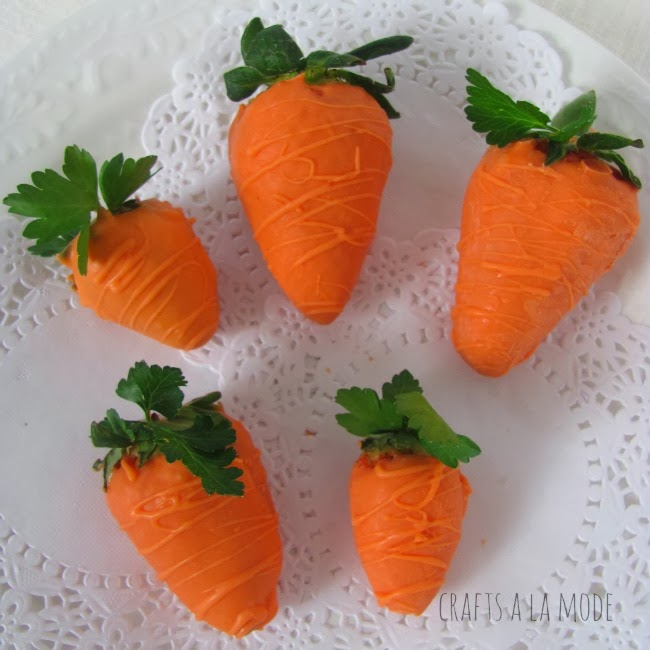 Faux strawberry carrots - and 15 other yummy Easter desserts!