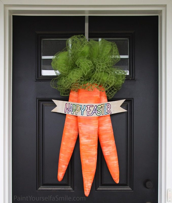 Cute Easter carrot wreath - and 14 other awesome Easter crafts!
