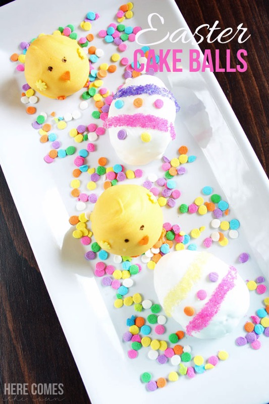 Easter cake balls - and 15 other yummy Easter desserts!