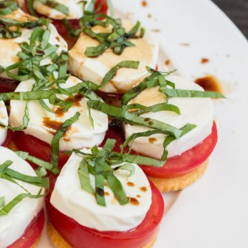 Simple Snack Idea: Caprese Ritzwich Recipe