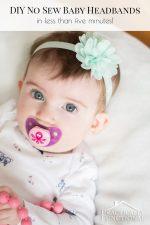 DIY No Sew Baby Flower Headbands